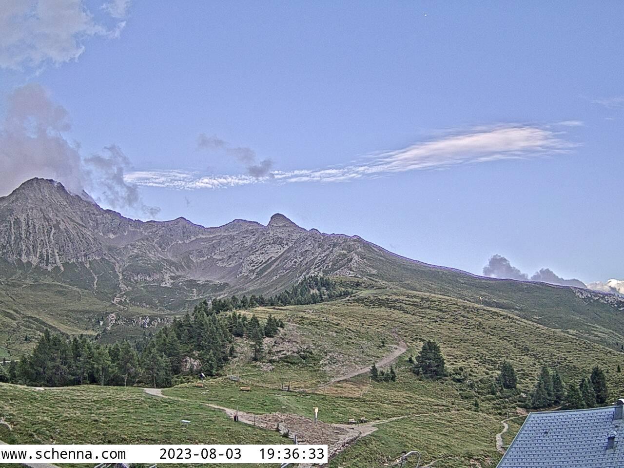 Bergstation Hirzer Seilbahn - Blick Richtung Hirzergebiet mit Hirzer (2.781m)